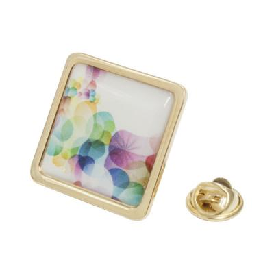 Image of Lapel Pin Large (square) Gold