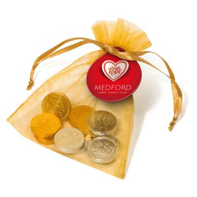 Image of Organza Bag Chocolate coins