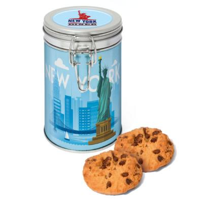 Image of Flip Top Tin Silver Choc Chip Cookies