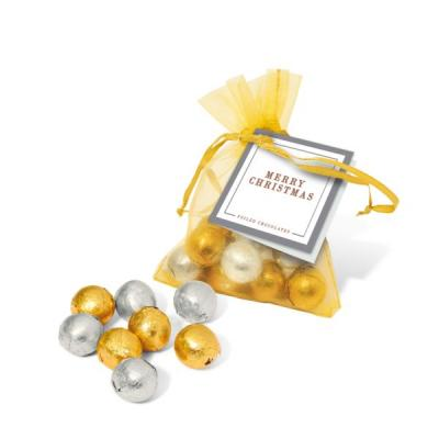 Image of Organza Gold & Silver Foil balls