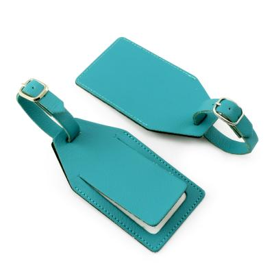 Image of Recycled ELeather Angled Luggage Tag