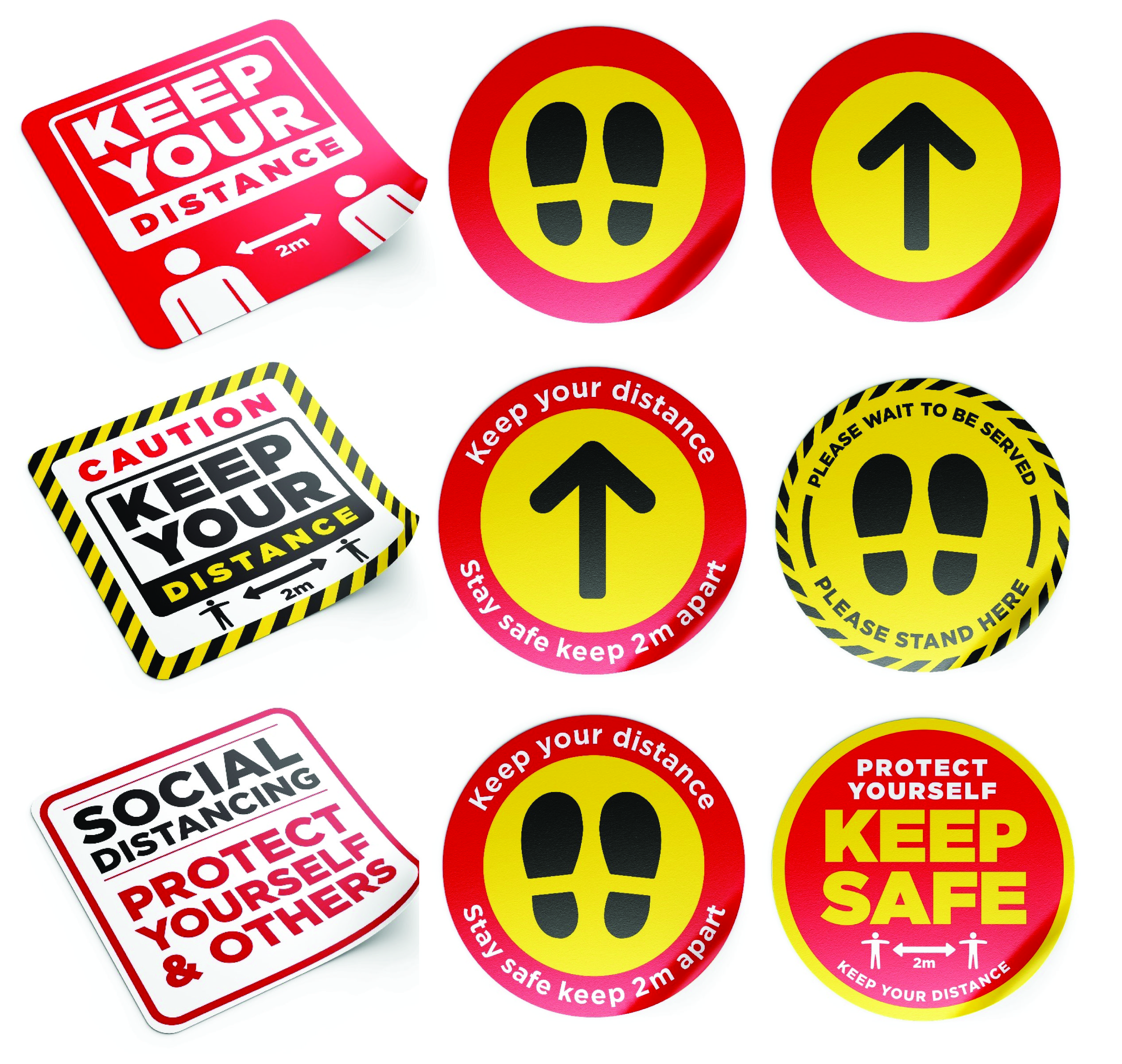 Safe Difference Floor Stickers