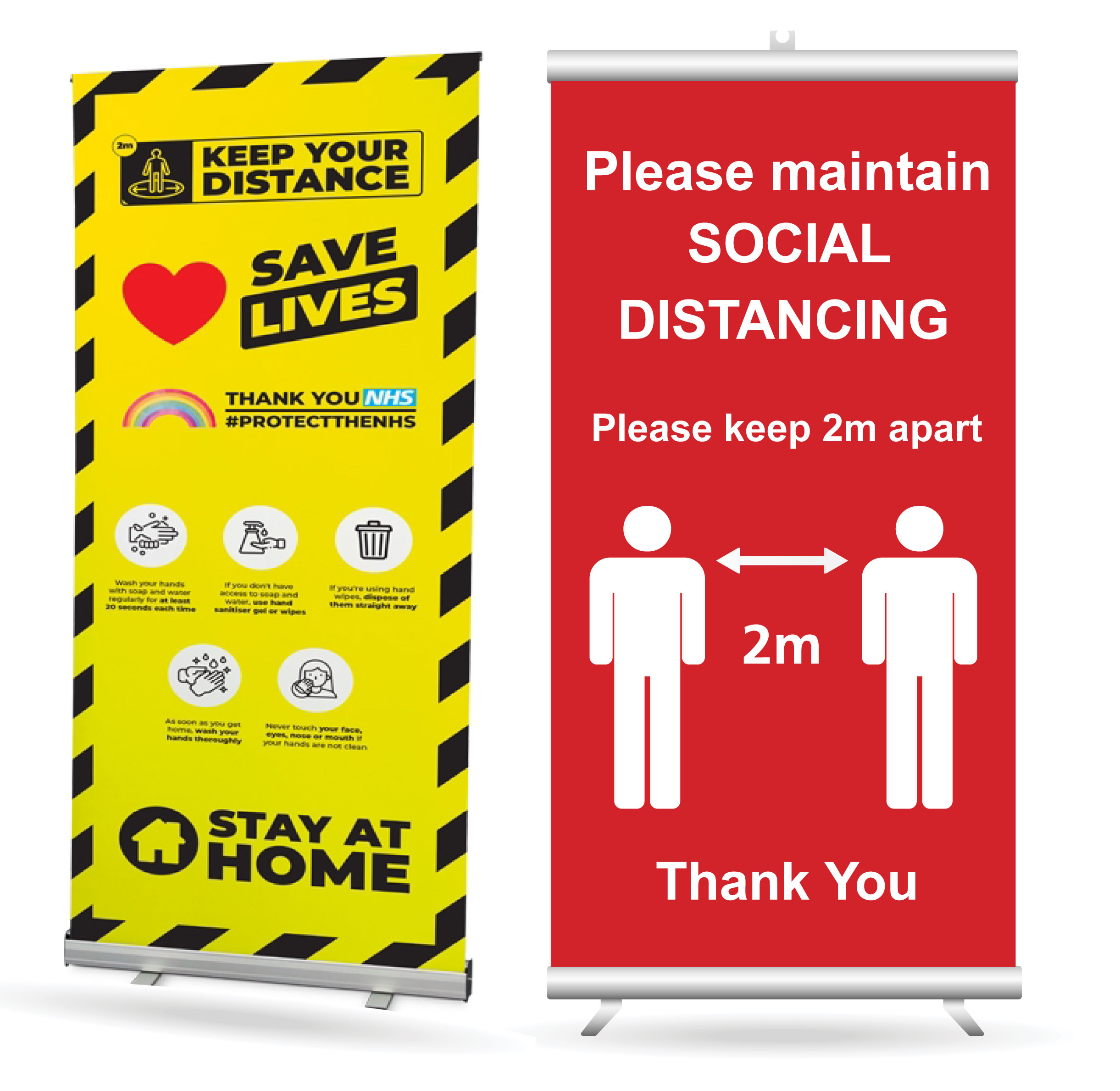 Safe Distance Roller Banners